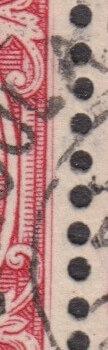 Extra Frame Line on George VI stamp