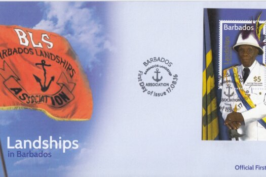 Landships of Barbados mini sheet FDC