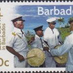 Landships of Barbados - 10c stamp - A Landship Tuk Band 1970's