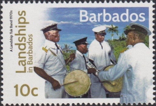 Landships of Barbados 10c stamp