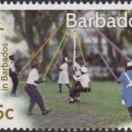 Landships of Barbados - 65c stamp - The Maypole