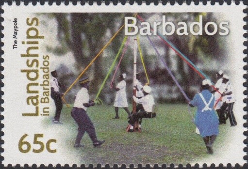 Landships of Barbados 65c stamp