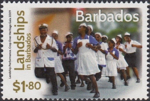 Landships of Barbados - $1.80 stamp - Landship Performance Crop Over Heritage Gala 2009