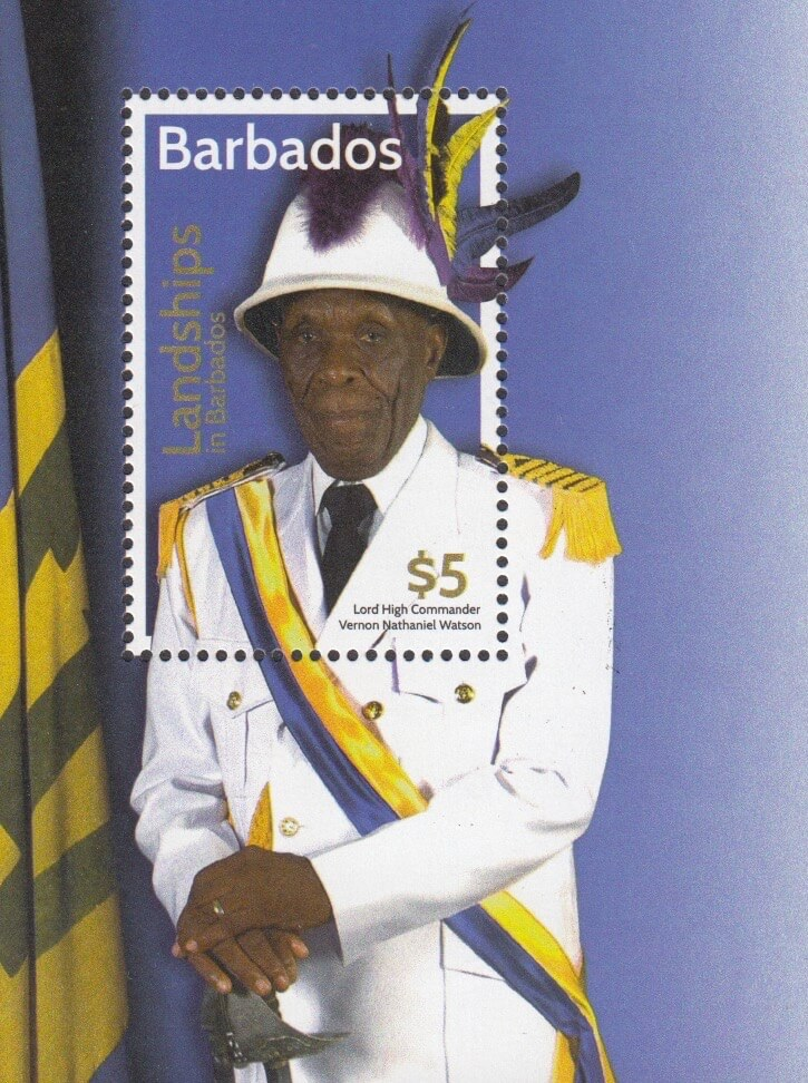 Landships of Barbados $5.00 mini sheet