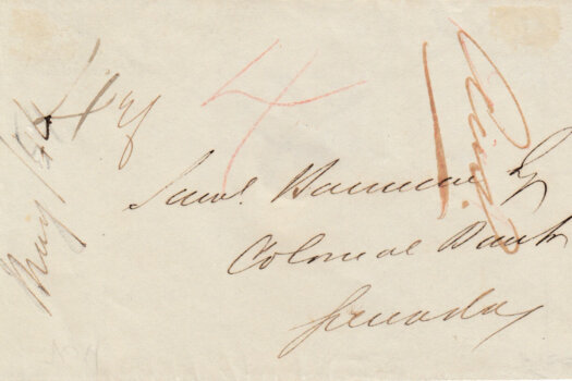 1844 cover from Barbados with Barbadoes cancel