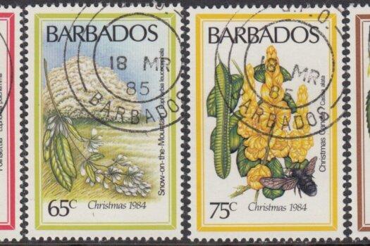 Barbados SG755-758 | Christmas Flowers 1984
