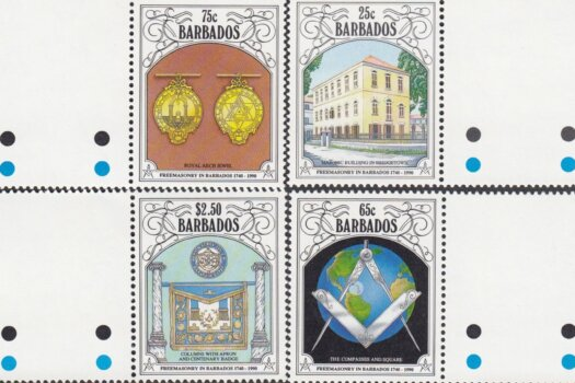 Barbados SG 956-959 | 250th Anniversary of Freemasonry in Barbados