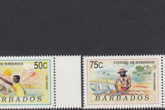 Barbados SG 952-955 | Fishing in Barbados