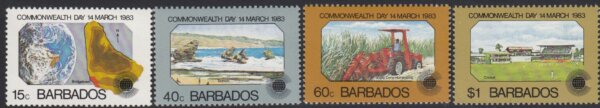 Barbados SG 722-725   Commonwealth Day