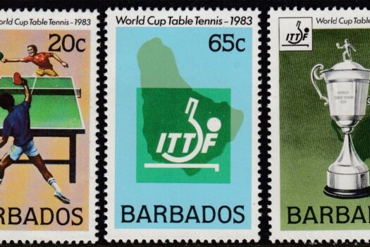 Barbados SG 734-736 | Table Tennis