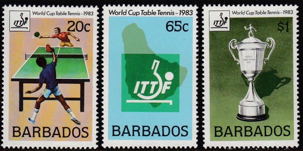 Barbados SG 734-736 | Table Tennis