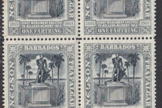 Barbados SG158 | 1/4d Nelson Centenary Wmk Crown CA