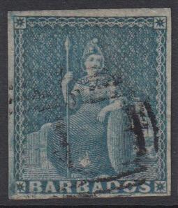 Barbados SG9 | 1d Pale Blue