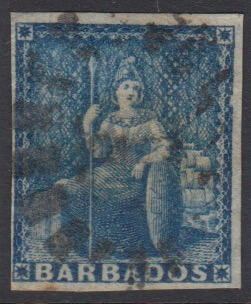 Barbados SG10 | 1d Deep Blue