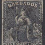 Barbados SG12a   1/- Black