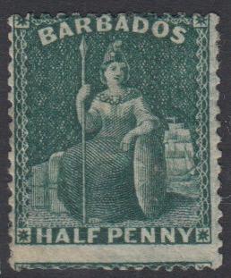 Barbados SG65| 1/2d Deep Green