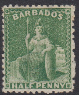 Barbados SG 67 | 1/2d Bright Green