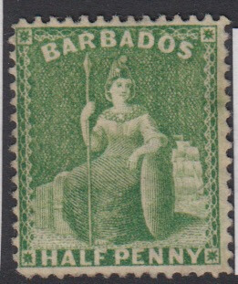 Barbados SG72 | 1/2d Bright Green