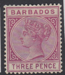 Barbados SG96 | 3d Reddish Purple