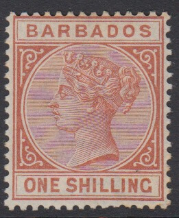 Barbados SG102 | 1/- Chestnut