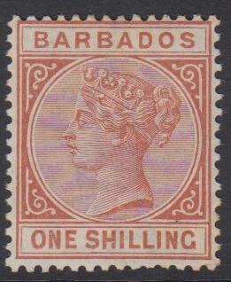 Barbados SG102 | 1/- Chestnut