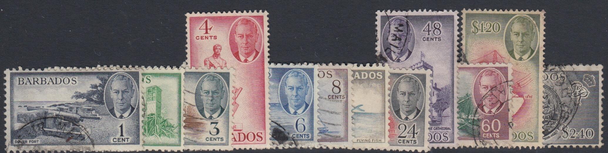 Barbados SG 271-282 | George VI definitives