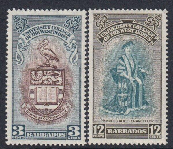Barbados SG 283-284 | Inauguration of B.W.I. University College