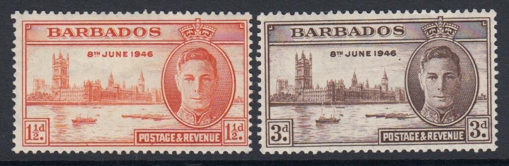 Barbados SG 262-263 | Victory
