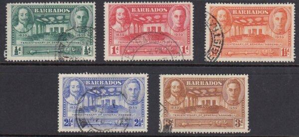 Barbados SG257-261   Tercentenary of General Assembly
