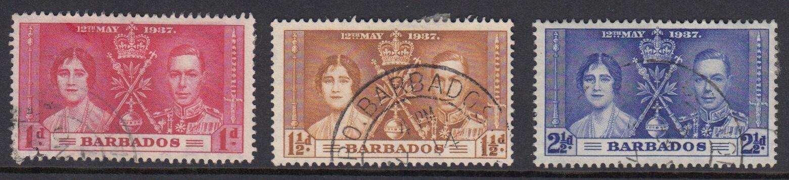Barbados SG245-247 | Coronation