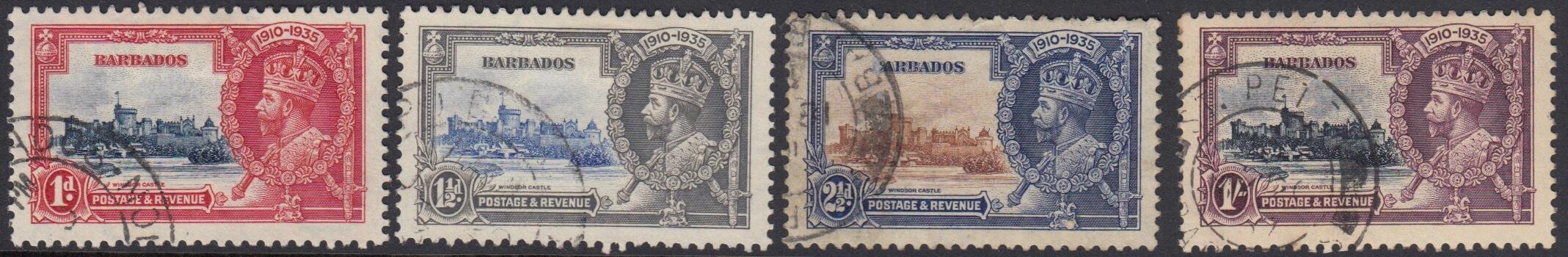 Barbados SG241-244 | Silver Jubilee