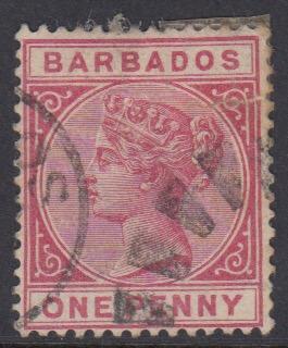 Barbados SG91 | 1d Carmine