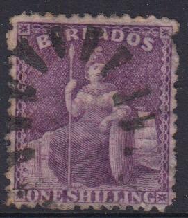 Barbados SG71 | 1/- Violet Analine