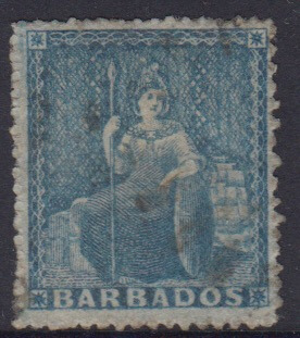 Barbados SG18 | 1d Pale blue