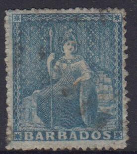 Barbados SG18 | 1d Pale blue