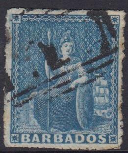 Barbados SG23 | 1d Blue