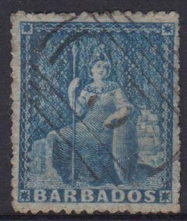 Barbados SG24 | 1d Deep Blue