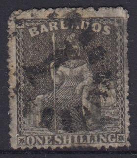 Barbados SG34 | 1/- Brown Black