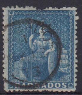 Barbados SG44 | 1d Blue