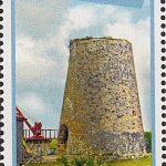 Windmills of Barbados - Barbados SG1433 | St Nicholas Abbey Windmill $2.20 stamp
