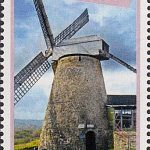 Windmills of Barbados - Barbados SG1434 | Morgan Lewis WIndmill $2.50 stamp