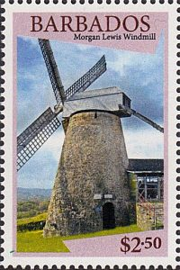 Windmills of Barbados - Barbados SG1434 | Morgan Lewis WIndmill $2.50 stamp