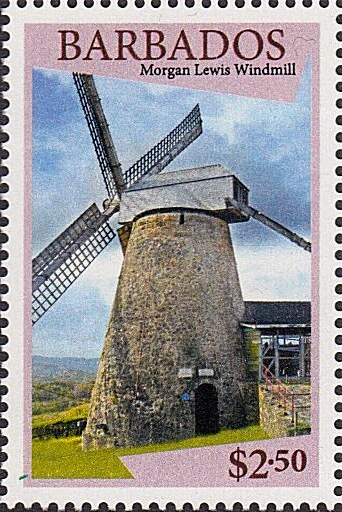 Barbados SG1434 | Morgan Lewis Windmill $2.50 stamp