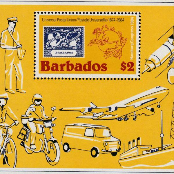 Barbados SGMS754 | UPU $2 Mini Sheet