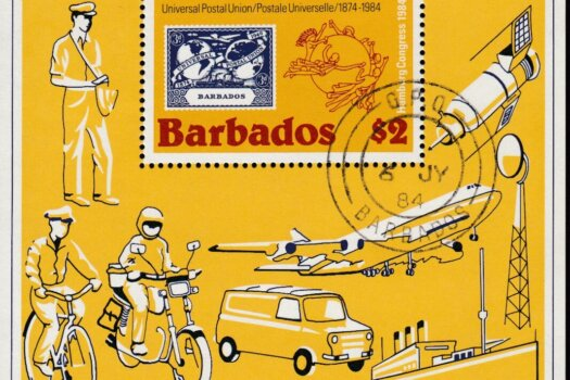Barbados SGMS754 | UPU $2 Mini Sheet