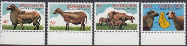 Barbados SG693-696   Black Belly Sheep