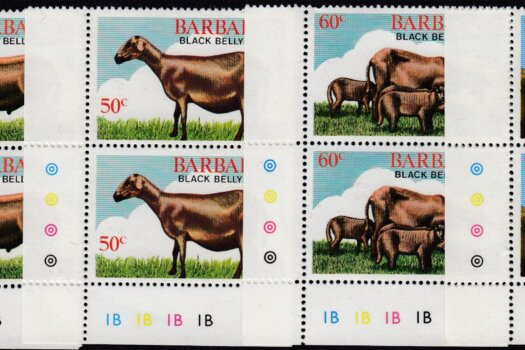 Barbados SG693-696 | Black Belly Sheep Corner Pairs