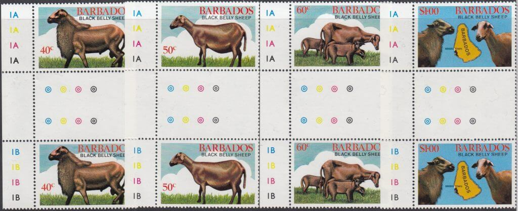 Barbados SG693-696 | Black Belly Sheep