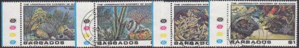 Barbados SG660-663   Underwater Scenery