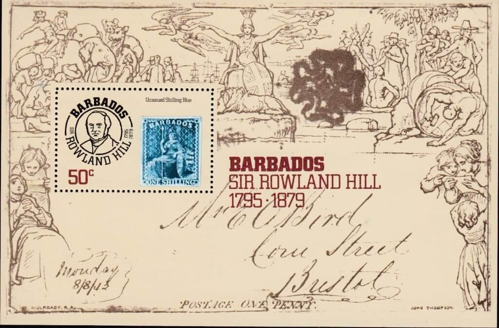 SGMS620 | Death Centenary of Sir Rowland Hill mini sheet